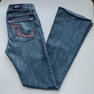 Rock & Republic | Flared Jeans w/ Red Stitching